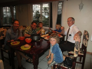 A Russian dinner with the Lamberts