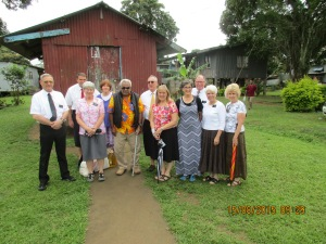 Our group of senior couples with the village chief