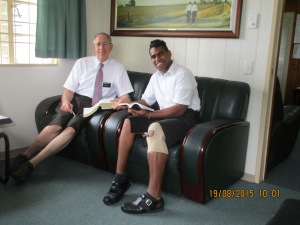 Tomasi reading with us and sharing his testimony about the Book of Mormon.
