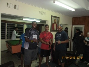 The real comedy was watching these three great big guys (Sean, ephriam, and his cousin) playing putt putt around the instituteSean, Ephraim, and his