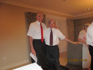 Elder Whitehead with Bro Bill Naylor